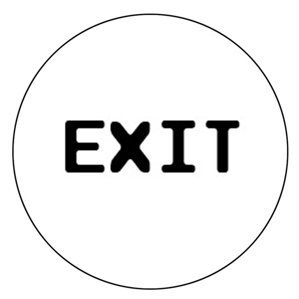 """Exit"" Button Decal"