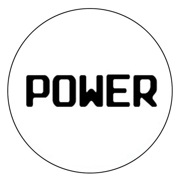 """Power"" Button Decal"