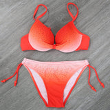 Neon Gradient Push Up Bikini