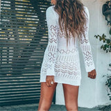 Sexy Knitted Crochet Beach Cover up