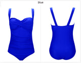 Retro Push-Up One-Piece Swimsuit