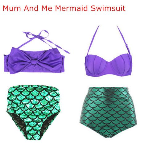 Mum and Me Matching Mermaid Swimwear