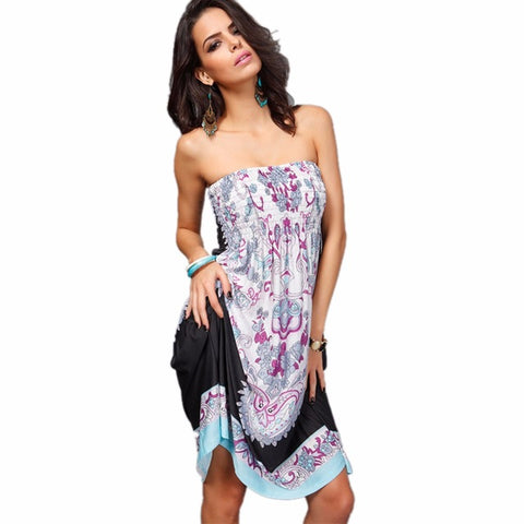 Gypsi strapless cover-up dress