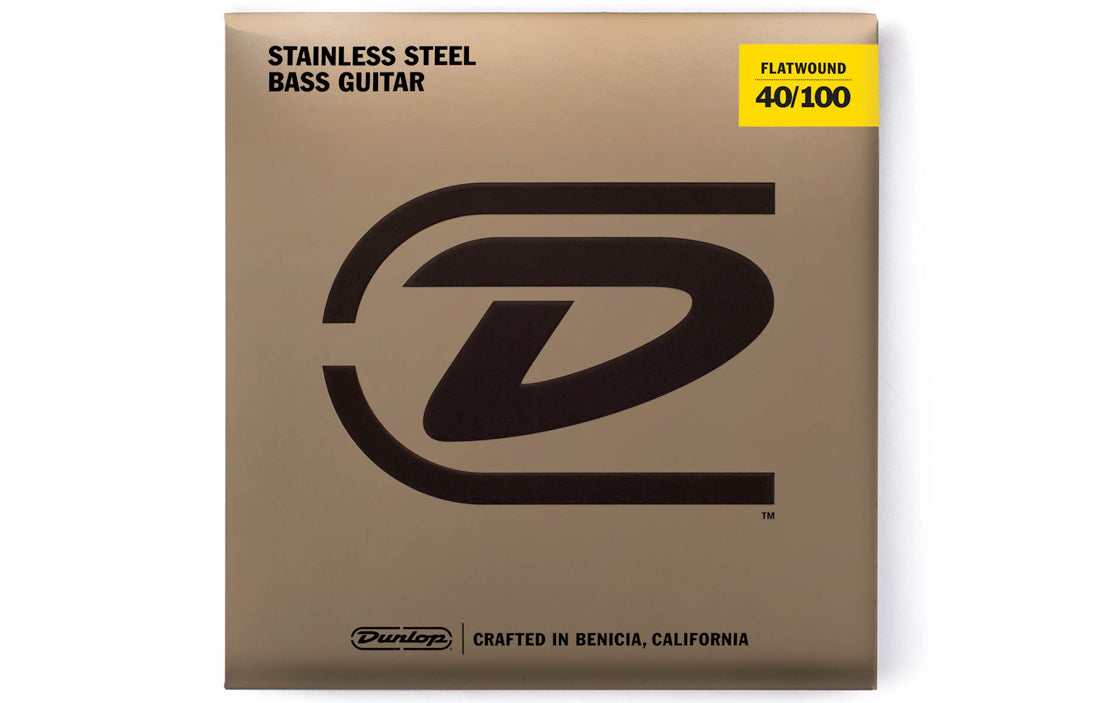 Dunlop Stainless Steel Flatwound Bass Strings (4 String Set) - The Bass Gallery