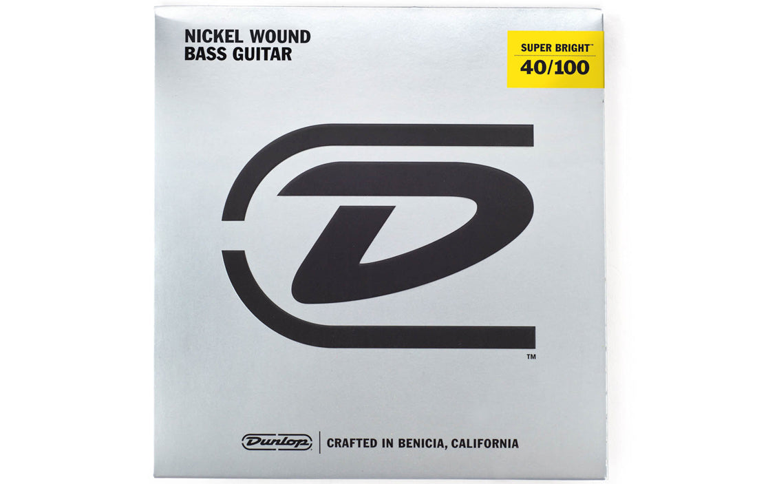 Dunlop Super Bright Nickel Wound Bass Strings (4 String Set) - The Bass Gallery