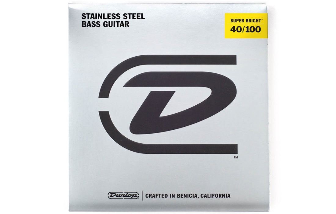 Dunlop Super Bright Stainless Steel Wound Bass Strings (4 String Set) - The Bass Gallery