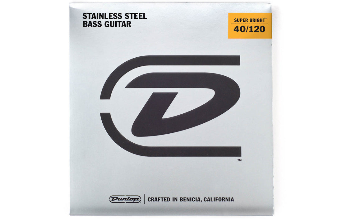 Dunlop Super Bright Stainless Steel Wound Bass Strings (5 String Set) - The Bass Gallery