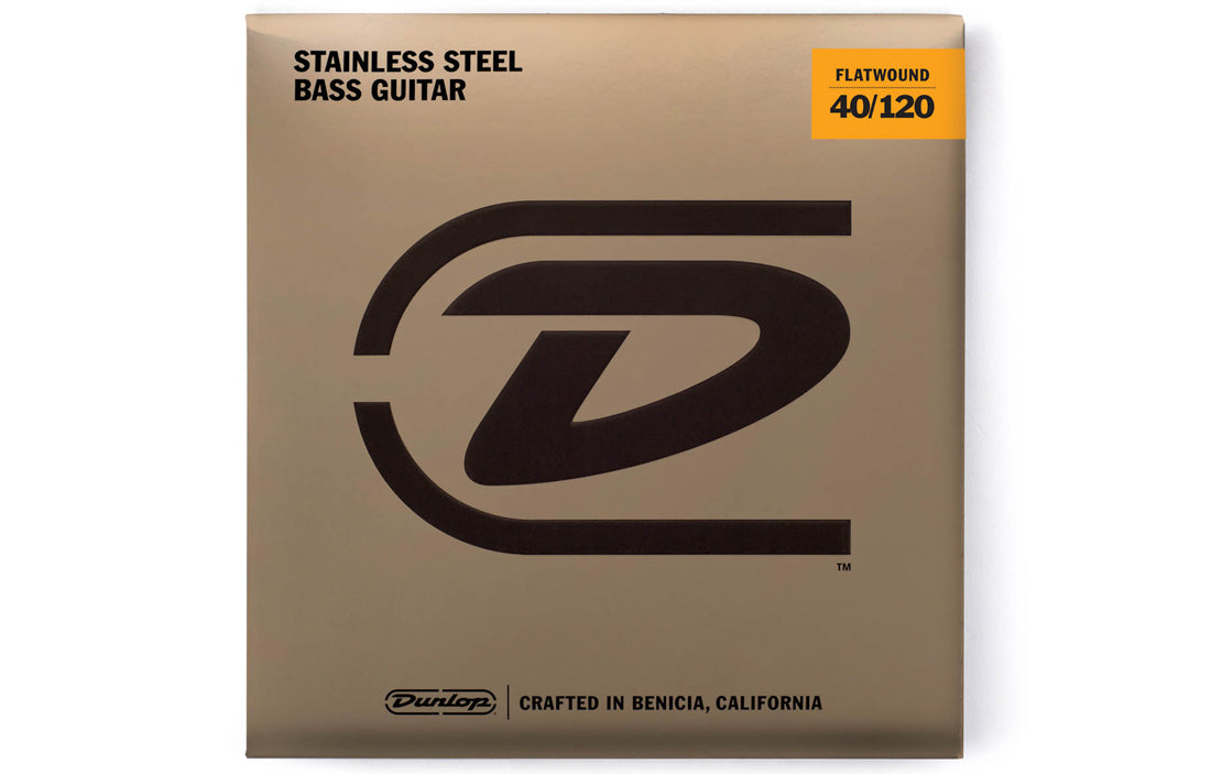 Dunlop Stainless Steel Flatwound Bass Strings (5 String Set) - The Bass Gallery