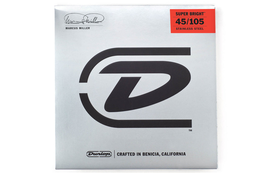 Dunlop Marcus Miller Super Bright™ Bass Strings (4 String Set) - The Bass Gallery