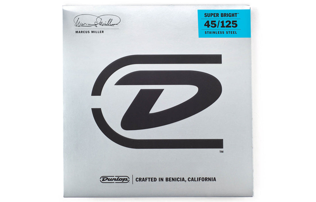 Dunlop Marcus Miller Super Bright™ Bass Strings (5 String Set) - The Bass Gallery