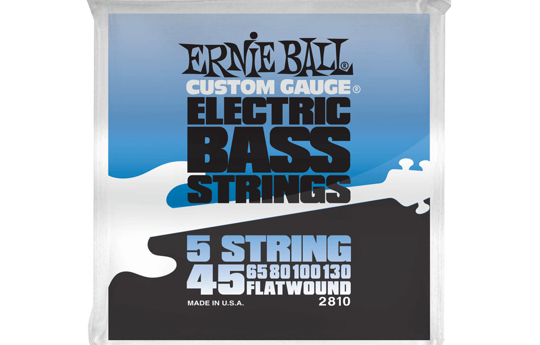 Ernie Ball Flatwound Group II 5 String 45-130 - The Bass Gallery