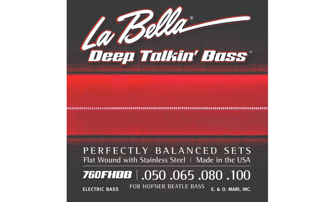"La Bella 760FHBB ""Beatle"" Bass Stainless Flats - The Bass Gallery"
