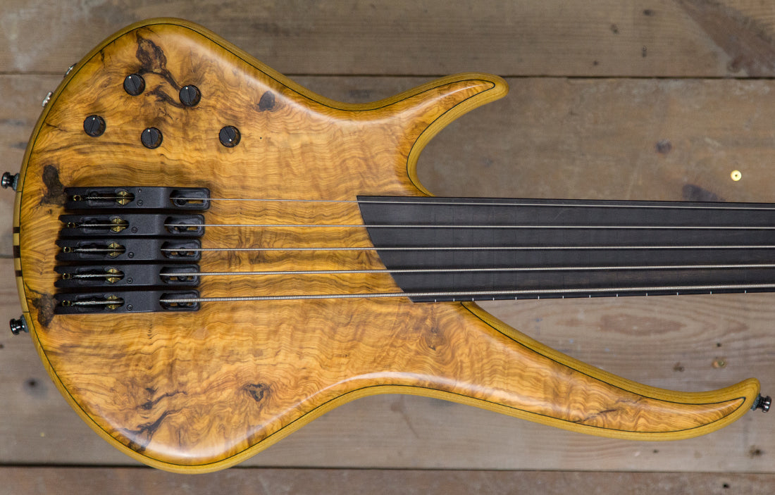 Sei Bass Flamboyant Fretless Left Handed 5