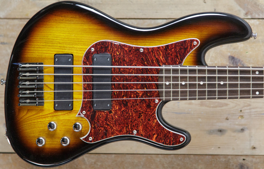 Duvoisin Standard Bass 5 2 Tone Sunburst - The Bass Gallery