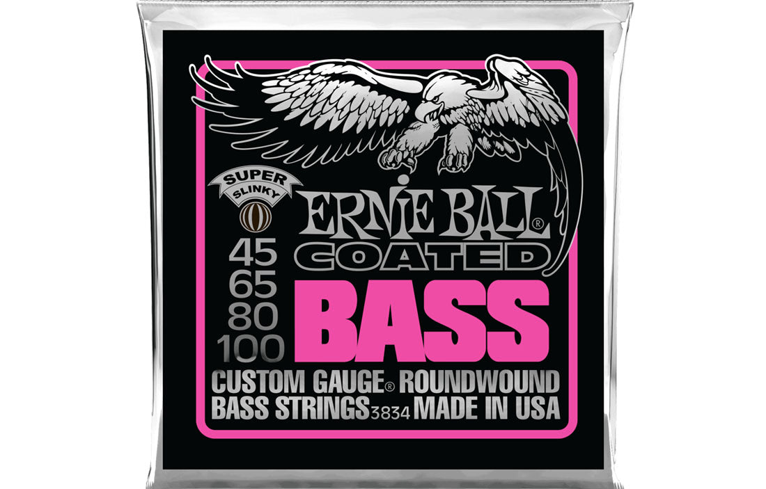 Ernie Ball Super Slinky Coated 45-100 - The Bass Gallery
