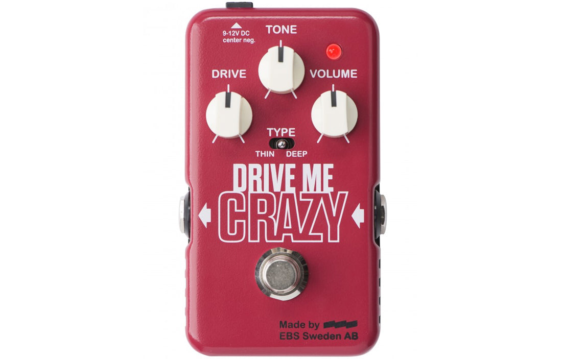 EBS Drive Me Crazy Distortion/Overdrive - The Bass Gallery