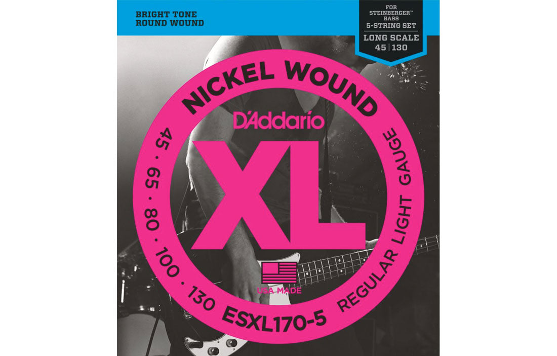 D'addario ESXL170-5 - The Bass Gallery