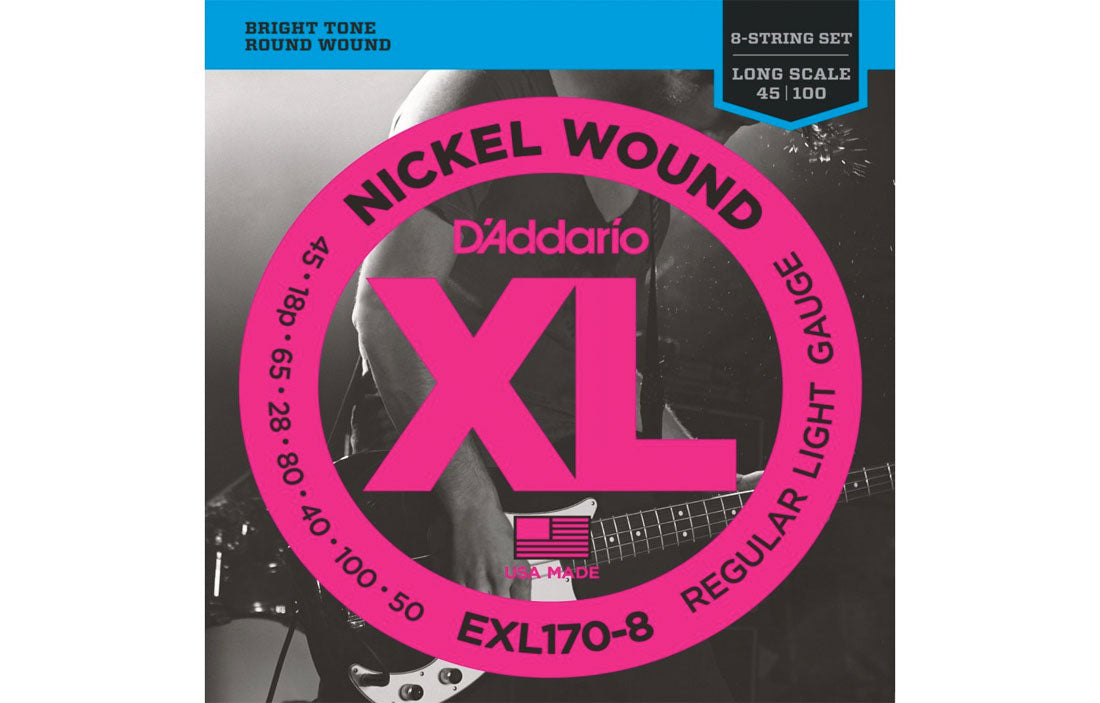 D'addario EXL170-8 - The Bass Gallery
