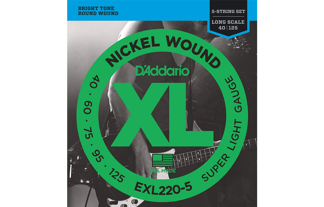 D'addario EXL220-5 - The Bass Gallery