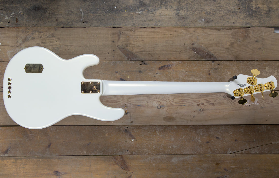 Ernie Ball Music Man StingRay 5 Limited Edition Gilded White Classic - The Bass Gallery