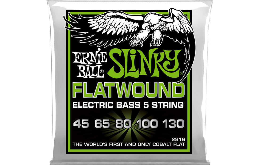 Ernie Ball Regular Slinky Flatwound 5 String 45-130 - The Bass Gallery