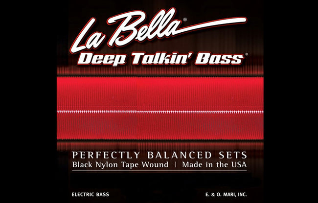 LaBella Deep Talkin' Bass Black Nylon Tape Wound 4 String - The Bass Gallery