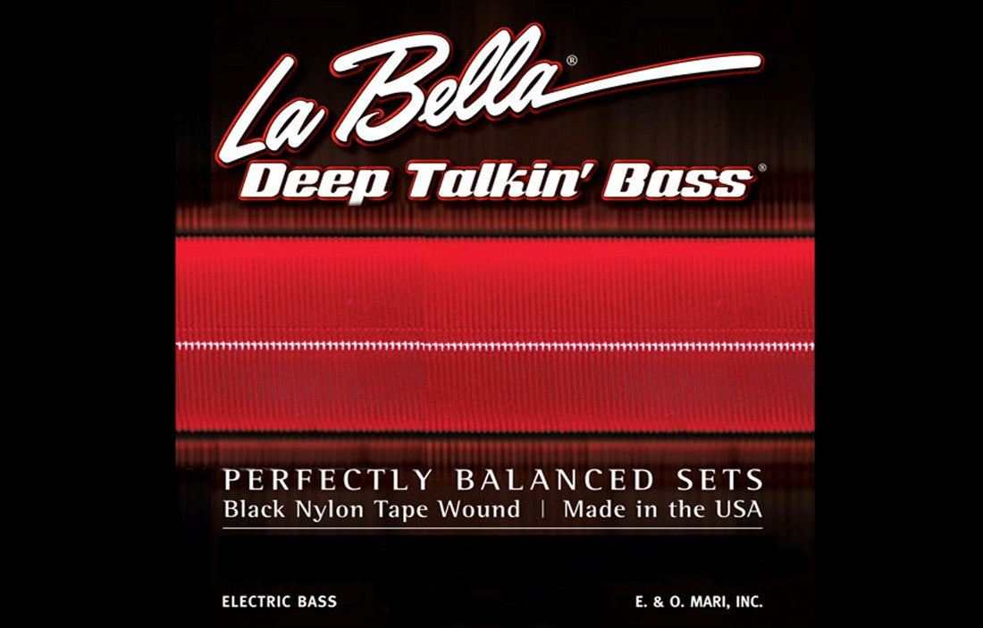 LaBella Deep Talkin' Bass Black Nylon Tape Wound 6 String - The Bass Gallery