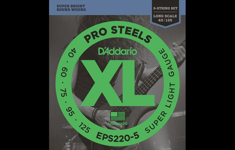 D'Addario EPS220-5 - The Bass Gallery