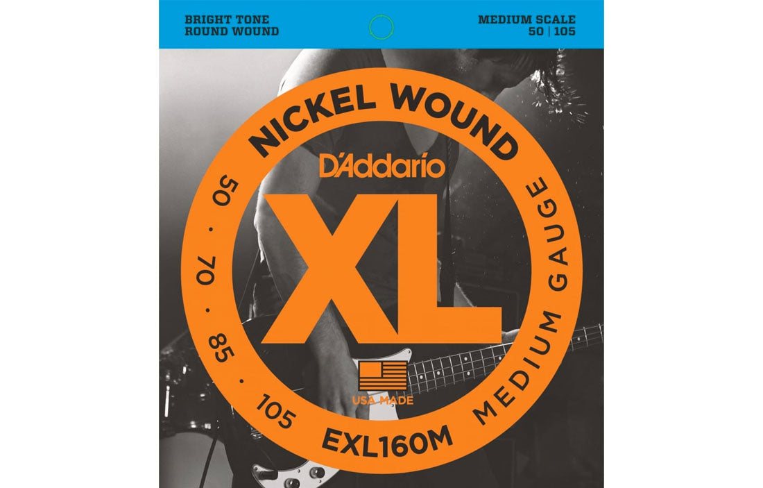 D'addario EXL160M - The Bass Gallery