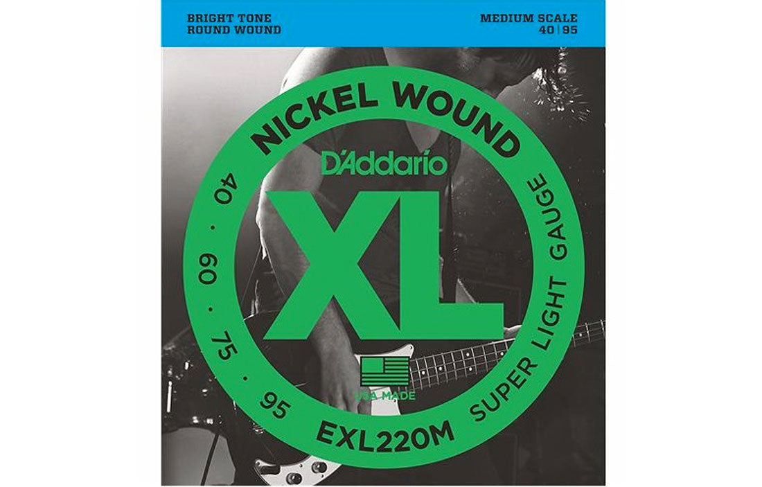 D'addario EXL220M - The Bass Gallery