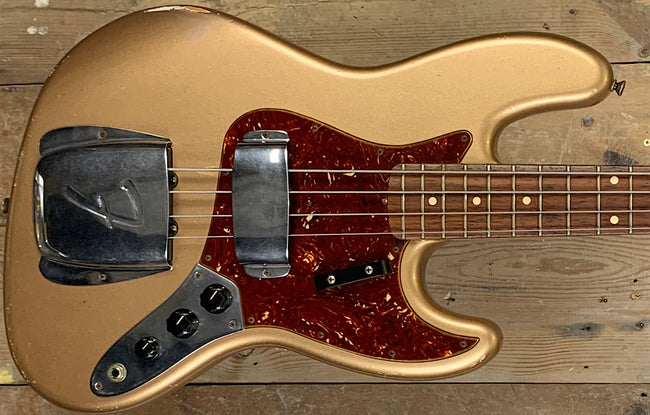 Fender Custom Shop '64 Jazz Relic Shorline Gold
