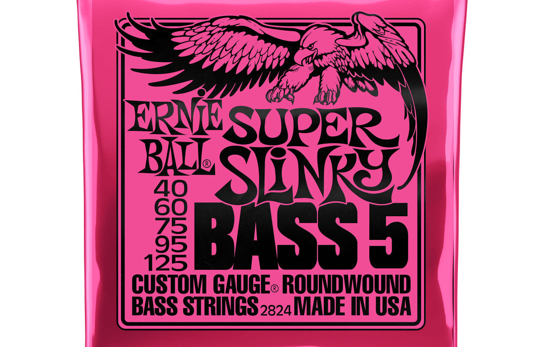 Ernie Ball Super Slinky 5 String 40-125 - The Bass Gallery