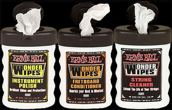 Ernie Ball Wonder Wipes String Cleaner - The Bass Gallery