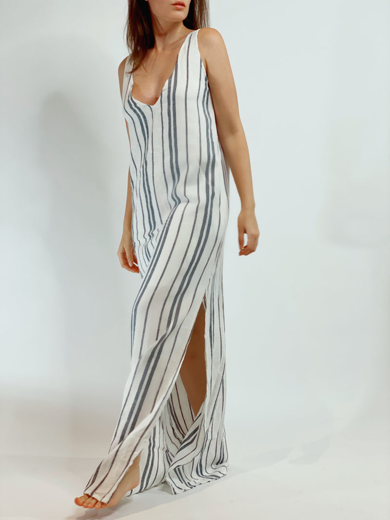 Amelia White Stripe Dress