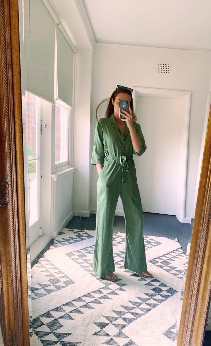 Chloe Boilersuit Palm Green