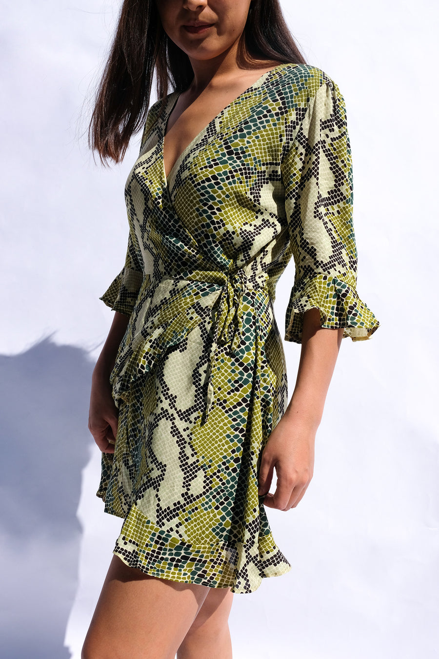 Seraphina Playsuit Serpent Green