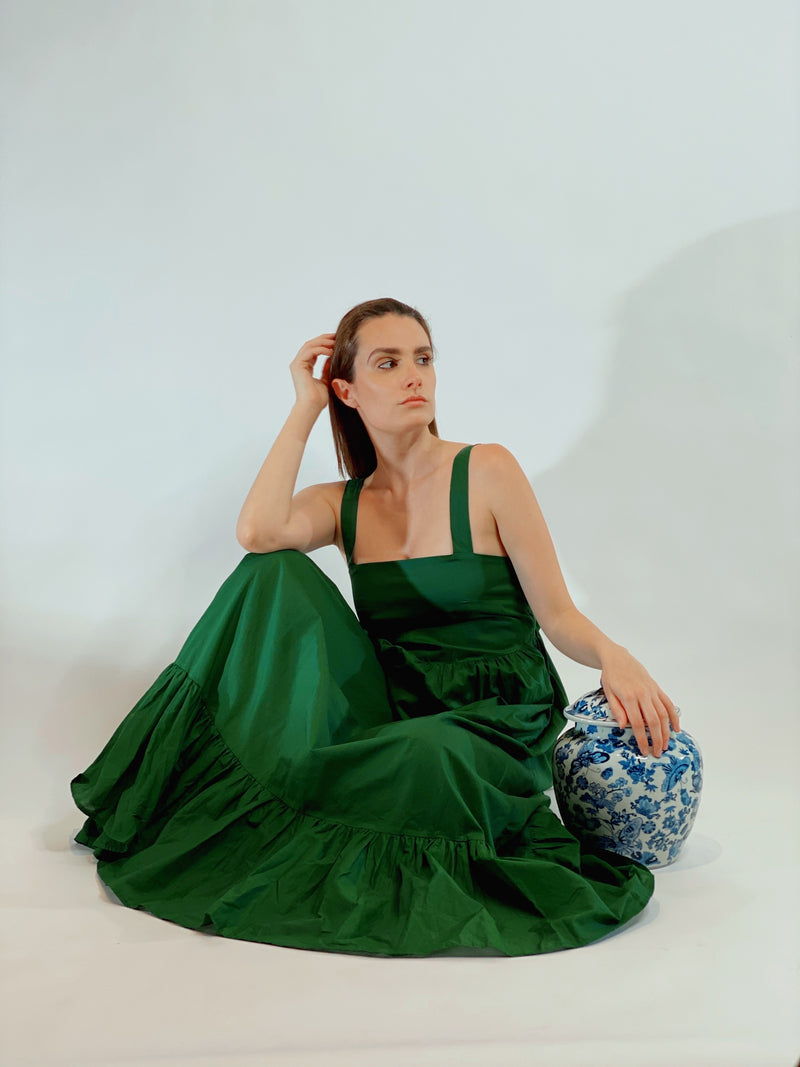 Beatriz Dress Emerald Green