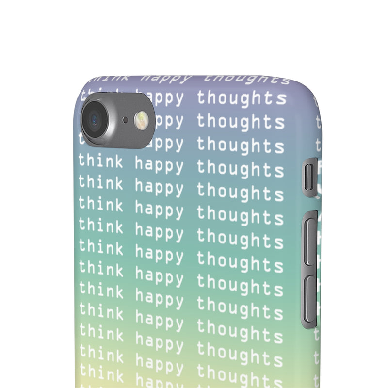 Happy Thoughts iPhone Case - Hipsters Wonderland - Tumblr Clothing - Tumblr Accessories- Aesthetic Clothing - Aesthetic Accessories - Hipster's Wonderland - Hipsterswonderland