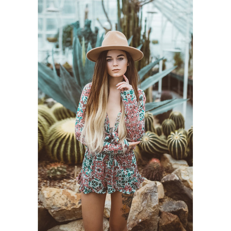 SUNSET ROSE ROMPER - Hipsters Wonderland - Tumblr Clothing - Tumblr Accessories- Aesthetic Clothing - Aesthetic Accessories - Hipster's Wonderland - Hipsterswonderland