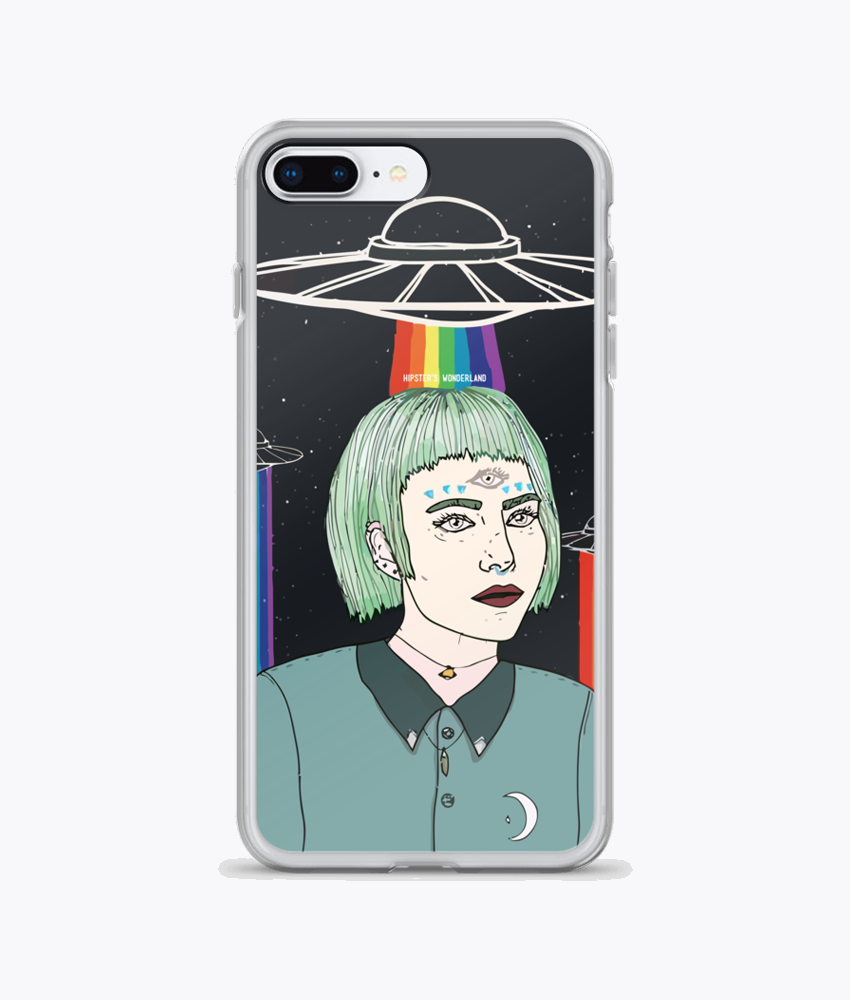 Alien Girl iPhone Cases - Hipsters Wonderland - Tumblr Clothing - Tumblr Accessories- Aesthetic Clothing - Aesthetic Accessories - Hipster's Wonderland - Hipsterswonderland