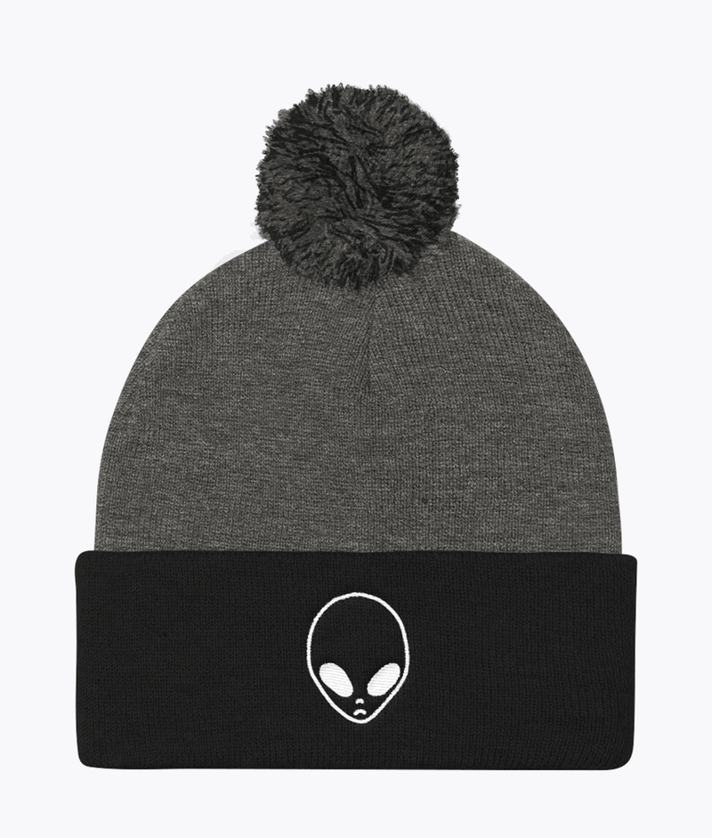 Alien Pom Pom Beanie - Hipsters Wonderland - Tumblr Clothing - Tumblr Accessories- Aesthetic Clothing - Aesthetic Accessories - Hipster's Wonderland - Hipsterswonderland