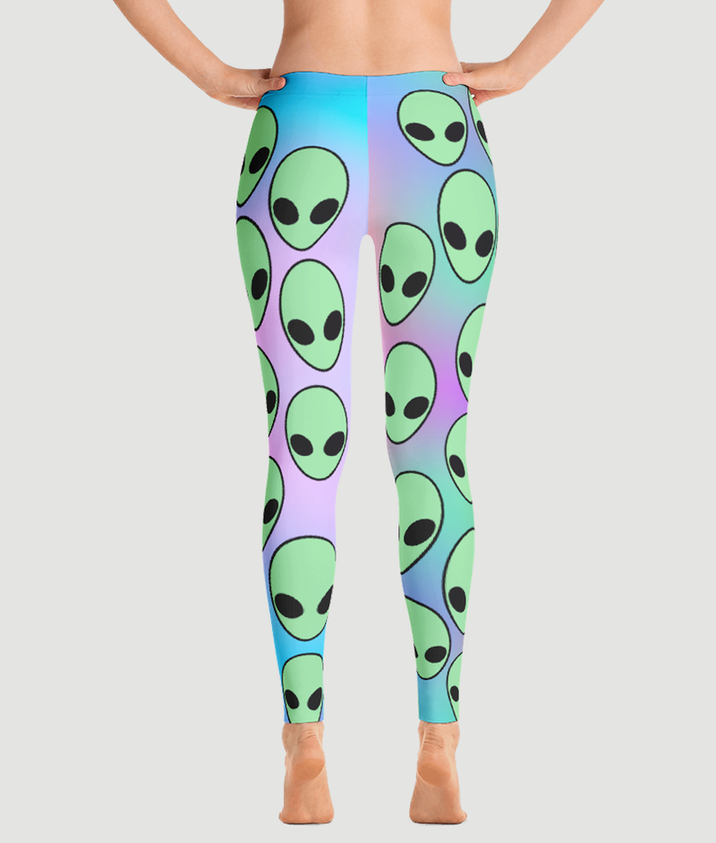 Aliens Leggings - Hipsters Wonderland - Tumblr Clothing - Tumblr Accessories- Aesthetic Clothing - Aesthetic Accessories - Hipster's Wonderland - Hipsterswonderland