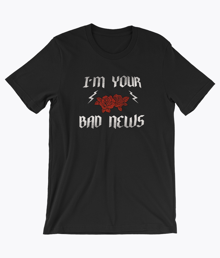Bad News T-Shirt - Hipsters Wonderland - Tumblr Clothing - Tumblr Accessories- Aesthetic Clothing - Aesthetic Accessories - Hipster's Wonderland - Hipsterswonderland