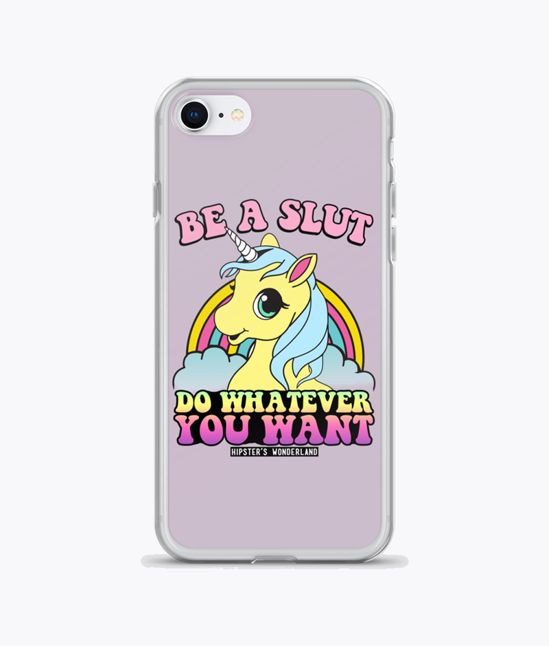 Be A Slut Clear iPhone Case - Hipsters Wonderland - Tumblr Clothing - Tumblr Accessories- Aesthetic Clothing - Aesthetic Accessories - Hipster's Wonderland - Hipsterswonderland