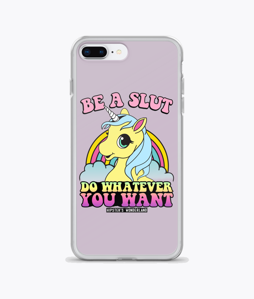 Be A Slut iPhone Cases - Hipsters Wonderland - Tumblr Clothing - Tumblr Accessories- Aesthetic Clothing - Aesthetic Accessories - Hipster's Wonderland - Hipsterswonderland