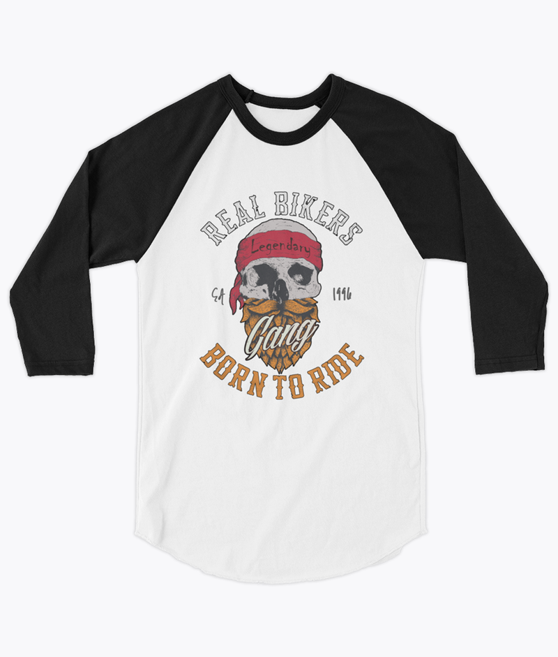 Born to Ride Unisex Raglan - Hipsters Wonderland - Tumblr Clothing - Tumblr Accessories- Aesthetic Clothing - Aesthetic Accessories - Hipster's Wonderland - Hipsterswonderland