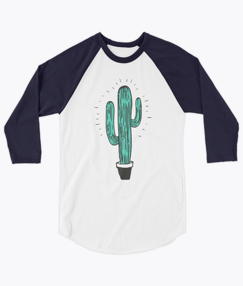 Cactus Unisex Raglan - Hipsters Wonderland - Tumblr Clothing - Tumblr Accessories- Aesthetic Clothing - Aesthetic Accessories - Hipster's Wonderland - Hipsterswonderland