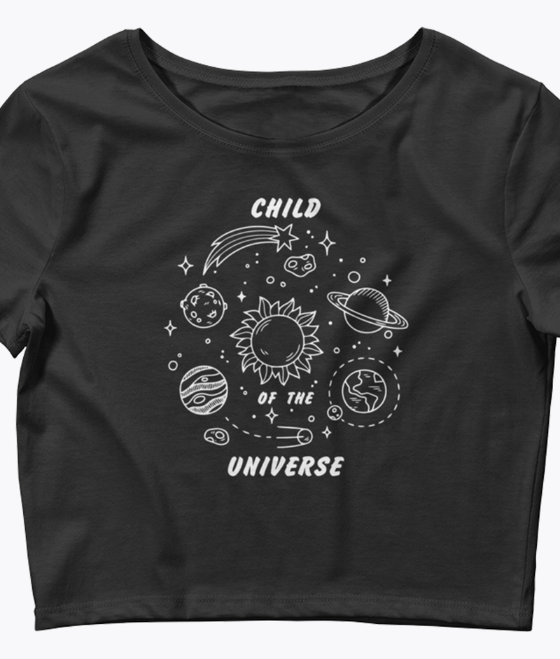 Child of the Universe Crop Tee - Hipsters Wonderland - Tumblr Clothing - Tumblr Accessories- Aesthetic Clothing - Aesthetic Accessories - Hipster's Wonderland - Hipsterswonderland