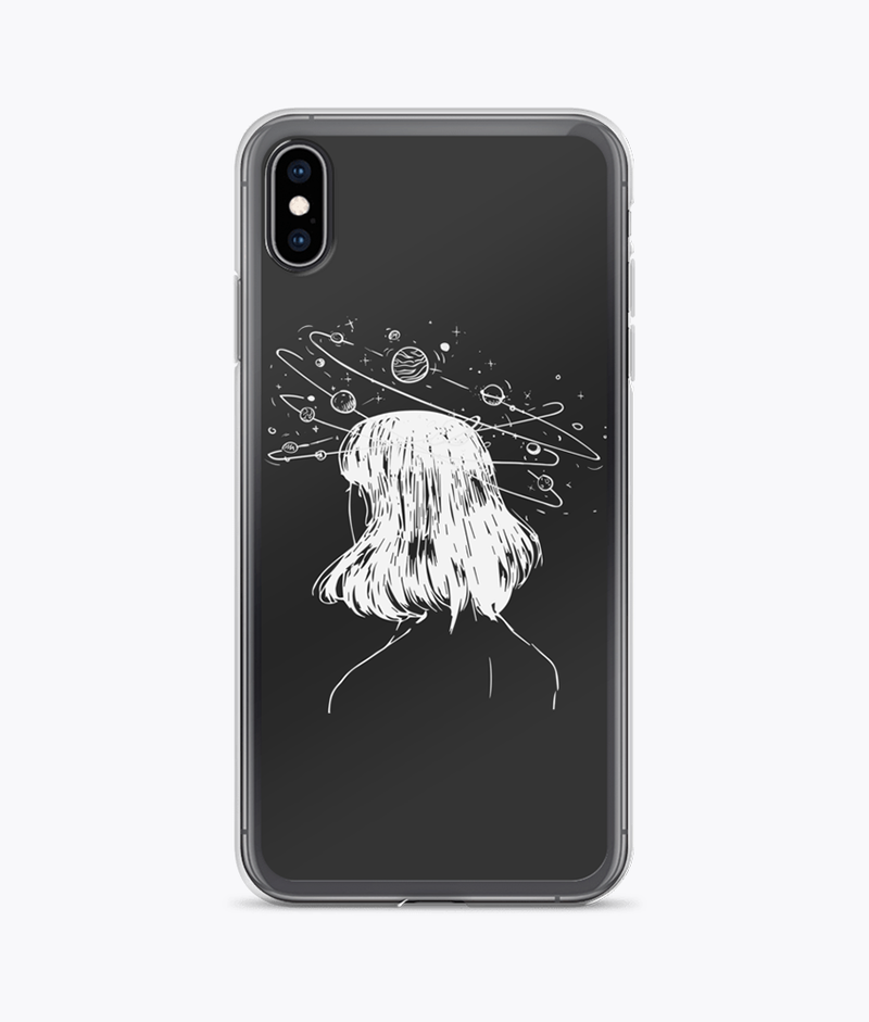 Alien Girl Clear iPhone Case