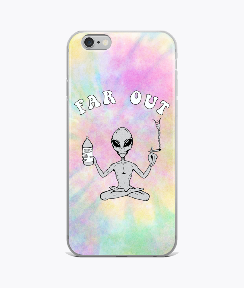 Far Out Alien iPhone Cases - Hipsters Wonderland - Tumblr Clothing - Tumblr Accessories- Aesthetic Clothing - Aesthetic Accessories - Hipster's Wonderland - Hipsterswonderland